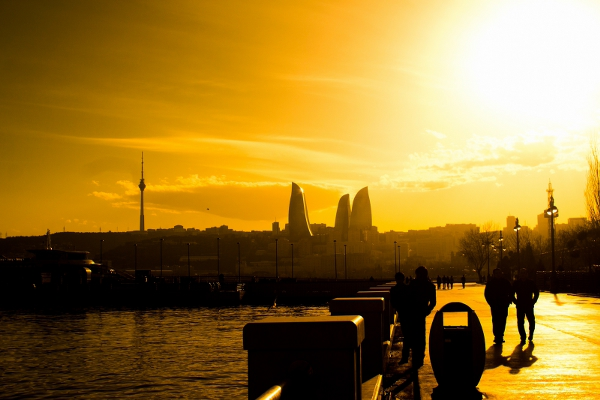 Баку. Набережная Каспийского моря
