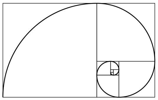 Спиральное отображение чисел Фибоначчи